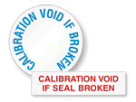 Calibration Void Labels