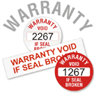 Warranty Void Label