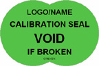 Calibration Seal - Void if Broken Label
