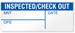 Inspected/Check Out Write-On Quality Control Label