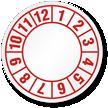 Number 1-12 Label Circular QC Label