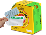Accepted Inspection tags make quick work of identifying approved items