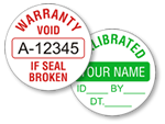 Circular Tamper Proof Labels