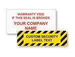Custom Tamper Proof Labels