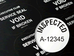 Inspected Label – Tamper Proof Materials