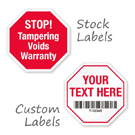 Stop Sign Shaped – Tamper Evident Labels