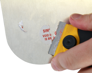 Circular Destructible Labels