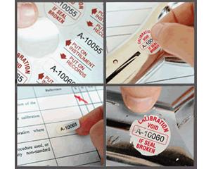 destructible Calibration Label Sequence