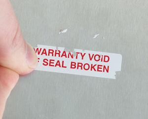 Rectangular Destructible Labels