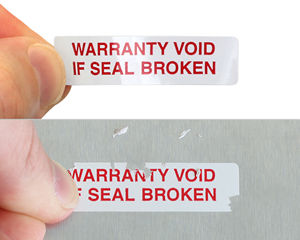 Custom Warranty Void Label