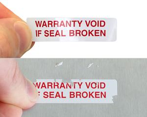 Custom Warranty Void Label