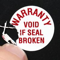 WARRANTY Seals