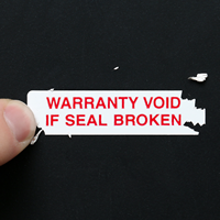 Warranty Destructible Seals