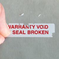 "½"" x 2"" Warranty Seals"